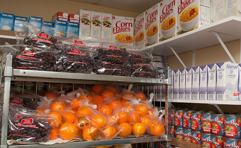MGH Chelsea food pantry helps families eat healthy by providing fresh fruits and vegetables.