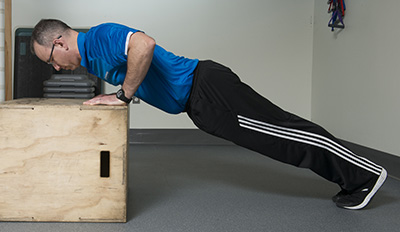 There are many ways to modify a push. You can go on your knees or use a step of raised box.