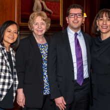 Pictured at Psychiatry Visiting Day, from left: Nhi-Ha T. Trinh, MD, MPH, Anne D. Emmerich, MD, Alex S. Keuroghlian, MD, MPH, and Aude Henin, PhD.