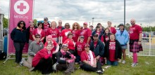 Underscoring its commitment to breast cancer research and care, Mass General is medical sponsor of Avon Walk Boston, part of the Avon Breast Cancer Crusade.  The volunteers who helped with the 2013 walk included this team from the MGH Emergency Department.
