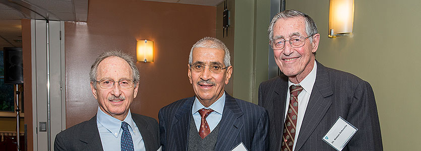 From left: Dr. Jeremy Ruskin, Sheikh Omran Alomran, and Dr. Roman DeSanctis, Honorary Physician and Director of Clinical Cardiology Emeritus.