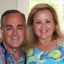 Amy Gallagher and husband Robert Gallagher support research and patient care for people with brain cancers.