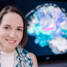 Anastasia Yendiki, PhD , and her colleagues use specially equipped MRIs to explore the finer structures of the brain. (Photo by Feta Eid)