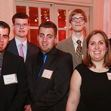 Aspire staff and interns at the organization's 2016 gala (see full photo description below)