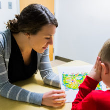 Kirstin Birtwell, PhD, is studying the use of technology in children with autism at the Lurie Center.