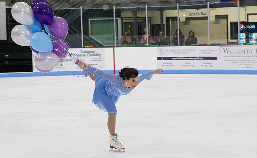 Judy Lipson skates in honor of her sisters and continues her family's long-term support for