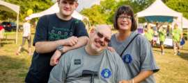 Michael Goldberg and his wife Judi (pictured below with their son Andrew) started the Hugs for Mito nonprofit organization to build awareness and raise funds for research into mitochondrial diseases.