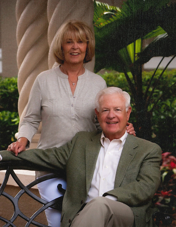 Hugh and Elaine Barry, inspired by the care Mass General provided to Hugh, support the hospital as perennial members of the 1811 Society as well as the Phillips Society.