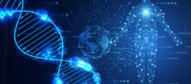 Erina Kii (left), research coordinator at the Center for Human Genetic Research, and cardiologist Pradeep Natarajan, MD, are part of a Mass General research team using the Partners Biobank.
