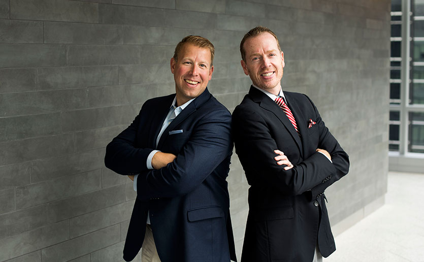David Richter (left) and Brian Sheehan are co-chairs of the first annual Everyday Amazing Race, which will raise funds to support the Mass General Cancer Center.