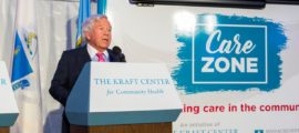 "Robert K. Kraft says CareZONE is designed to ""provide the hope of recovery to people who may feel unnoticed by our society and who are in need of care. """