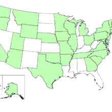CDGEMM has enrolled infants from 32 U.S states (shown on map in green) as well as children in Italy and Spain.