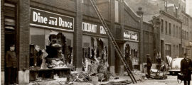 The devastating fire at the Cocoanut Grove nightclub in Boston led to advances in burn care. (Photo courtesy of the Trustees of the Boston Public Library)