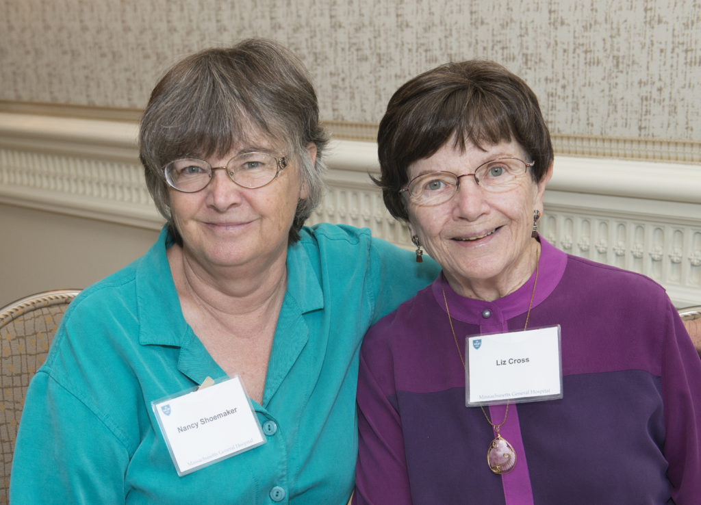 Phillips Society member Liz Morrill Cross, right, attended the Society's 2017 luncheon with a friend.