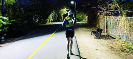 Even in the wee hours of the morning, Sara was running on the bike trail near her home.