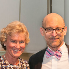 Kent and Liz Dauten (first and second from left) are endowing a chair for research by Andrew Nierenberg, MD, director of the Bipolar Clinic, shown here with his wife, Karen Blumenfeld.