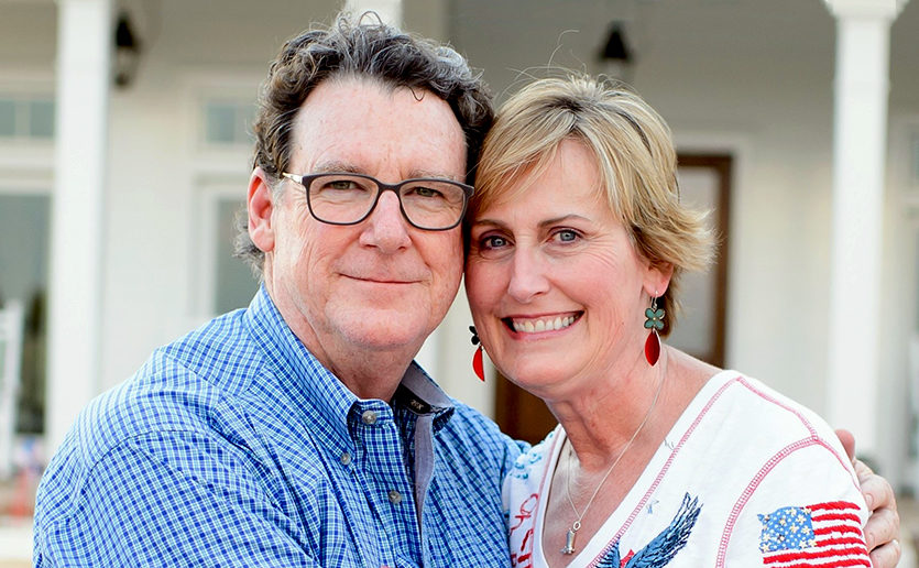 Cathy Seilhan and her husband, Denton