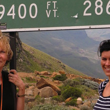 There is a global shortage of anesthesiologists trained to safely deliver pain relief, says MGH anesthesiologist Lena Dohlman, MD, (at left) in Lesotho, Africa with MGH anesthesiologist Olof Viktorsdottir, MD.