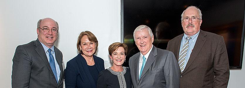 From left: Dr. Peter Slavin; Linda Lewis, RN; Dr. Jeanette Ives Erickson; Jack Connors; and Dr. David Torchiana