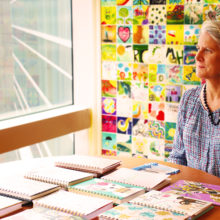 """An MGHfC volunteer and the creator of """"Journals of Hope"""" program, Faith Wilcox helps patients and families find light in dark moments."""