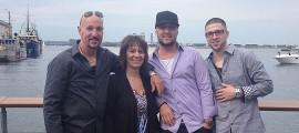 From left, Gary, Brenda, Jason, and Matt Farley.