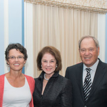 Celebrating a pair of extraordinary gifts to MGH vascular medicine are (from left) Peter L. Slavin, MD; Katrina Armstrong, MD, MSCE; donors Phyllis and Paul Fireman; and Michael R. Jaff, DO