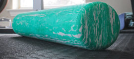 A foam roller could help you feel better.