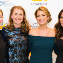 Caring For A Cure co-directors from left, Laura White, RN, Sara Stevens, NP, Molly Higgins, RN, and Christine Weiand, RN. (Photo by Hillary Deane Photography)