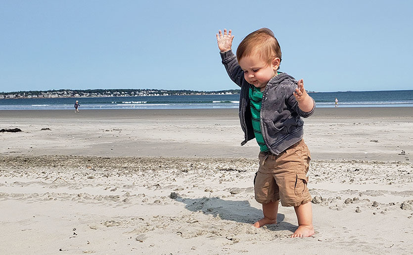 Today, one-year-old Gavin is full of energy!