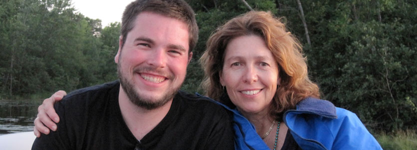 Gayle Chatlosh and her son Kris, in whose honor she runs the Boston Marathon.