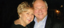 Gerri Dolce with her husband, Jim Dolce. Gerri developed PSP, a rare neurodegenerative disease and she participated in research to help other patients.