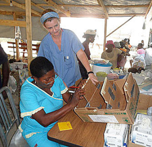 Global health Nurse from Mass General, Grace Deveney, has volunteered to go to Haiti three times in recent years.