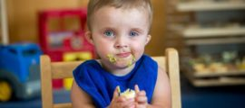Eating is now a pleasure for 2-year-old Grant Baker who just months ago was refusing food and losing weight.