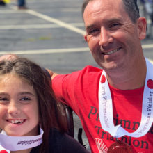 Team Abby Mac is made up of Greg MacCurtain and his nine-year-old daughter, Abby. The father-daughter running team started when Abby was five.