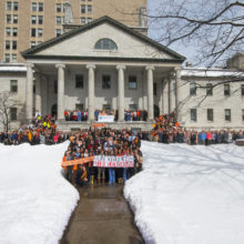 On March 14, 2018, Mass General staffers joined healthcare workers and students nationwide in calling attention to gun violence as a major medical and public health issue.