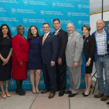 Leaders from Mass General, the state of Massachusetts and the city of Boston gathered recently to launch the MGH Center for Gun Violence Prevention (*See full caption below the story).
