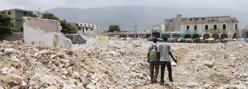 In 2010, a 7.0-magnitude earthquake caused severe destruction in Haiti.