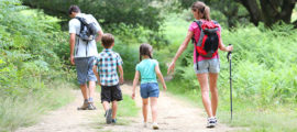 Hiking can be a fun family activity.