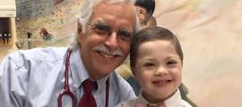 Howard Weinstein, MD, with Harry Burns, 5, his patient-partner.