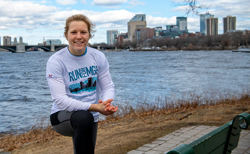 Jordan Weil is ready to take on the Boston Marathon as a member of Mass General's Marathon Team in support of pediatric cancer.