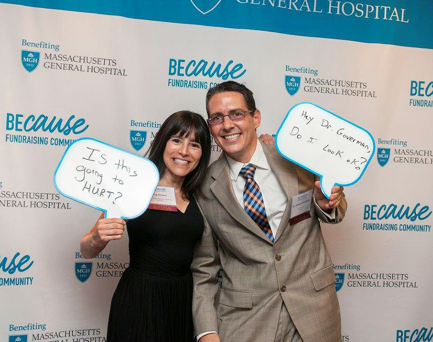 Joy and Dr. Goverman at a recent gathering of Mass General community fundraisers.