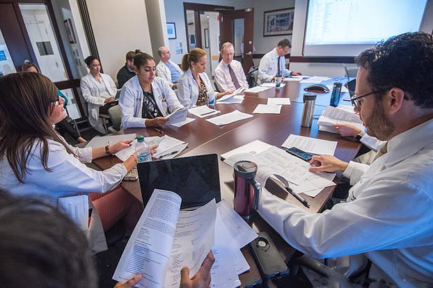 At Mass General, a multidisciplinary team meets weekly to discuss patients under consideration for a heart transplant.