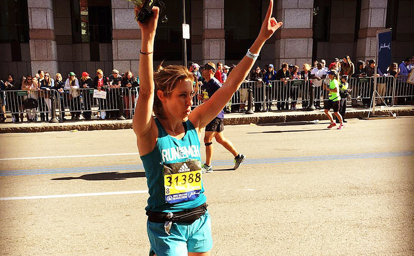 Erin McGuirk honors her family's legacy of giving by running for Mass General in the Boston Marathon.