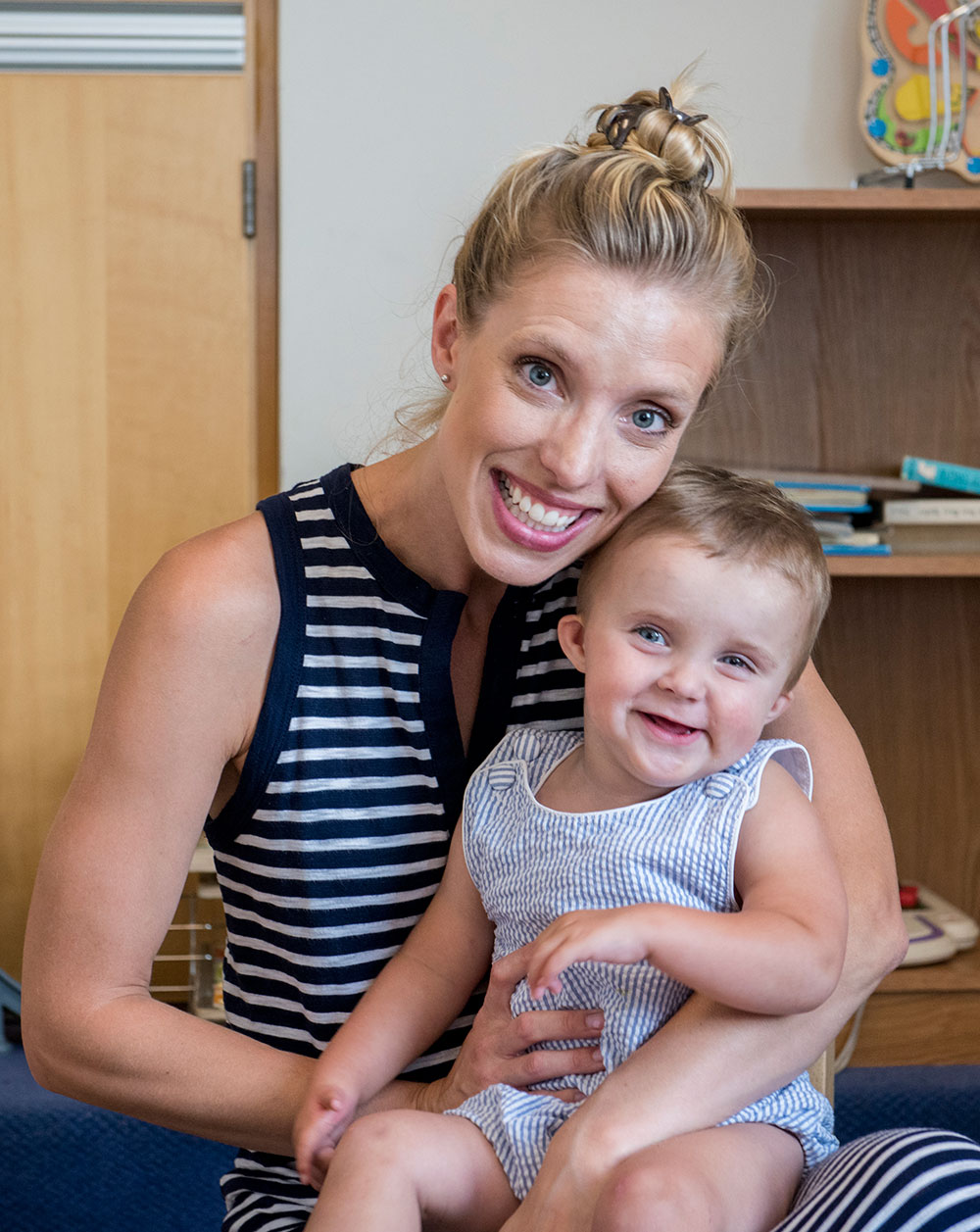 Lindsey Baker collaborated closely with the feeding center team to solve the mystery of her son's feeding disorder.