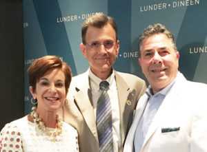 From left, Lunder-Dineen co-chairs Jeannette Ives Erickson, RN, DNP, and Robert Birnbaum, MD, PhD,, and Gino Chisari, RN, DNP, chief learning officer and director of Mass General's Norman Knight Nursing Center for Clinical and Professional Development.