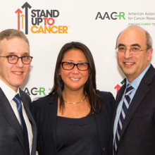 from left: Dr. Otis W. Brawley, American Cancer Society chief medical officer; Dr. Jedd Wolchok; Dr. Sung Poblete, SU2C president/CEO; Dr. Jeffrey Engelman; and Dr. William Chambers, SU2C-ACS Joint Scientific Advisory Committee. (Photo by Mark Stehle/Invision for Entertainment Industry Foundation/AP Images, )