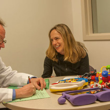Christopher McDougle, MD (left), is the director of the Lurie Center for Autism, a multidisciplinary program that treats children, adolescents and adults with autism spectrum and other neurodevelopmental disorders.