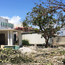 Although Lynn Black, MD, MPH, has been to Haiti many times, including after the 2010 earthquake, the devastation of Hurricane Matthew was far worse than she expected in places like Les Cayes, where this local hospital was hit hard. (Photo by Lynn Black)