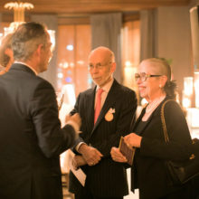 Mass General's Alberto Puig, MD, PhD, (left) speaks with Frederick and Ann Lynn at The Power of Ten, a recent event to celebrate the MGH Fund's impact. Mr. Lynn is a member of the MGH Fund Leadership Council.