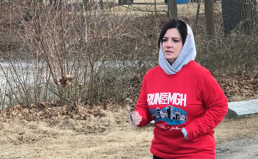 Stephanie Rosa will run the 2019 Boston Marathon® in gratitude for the care Mass General has provided for her daughter, Olivia Silva.